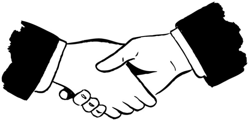 Handshake clipart two. Shaking hands hand shake
