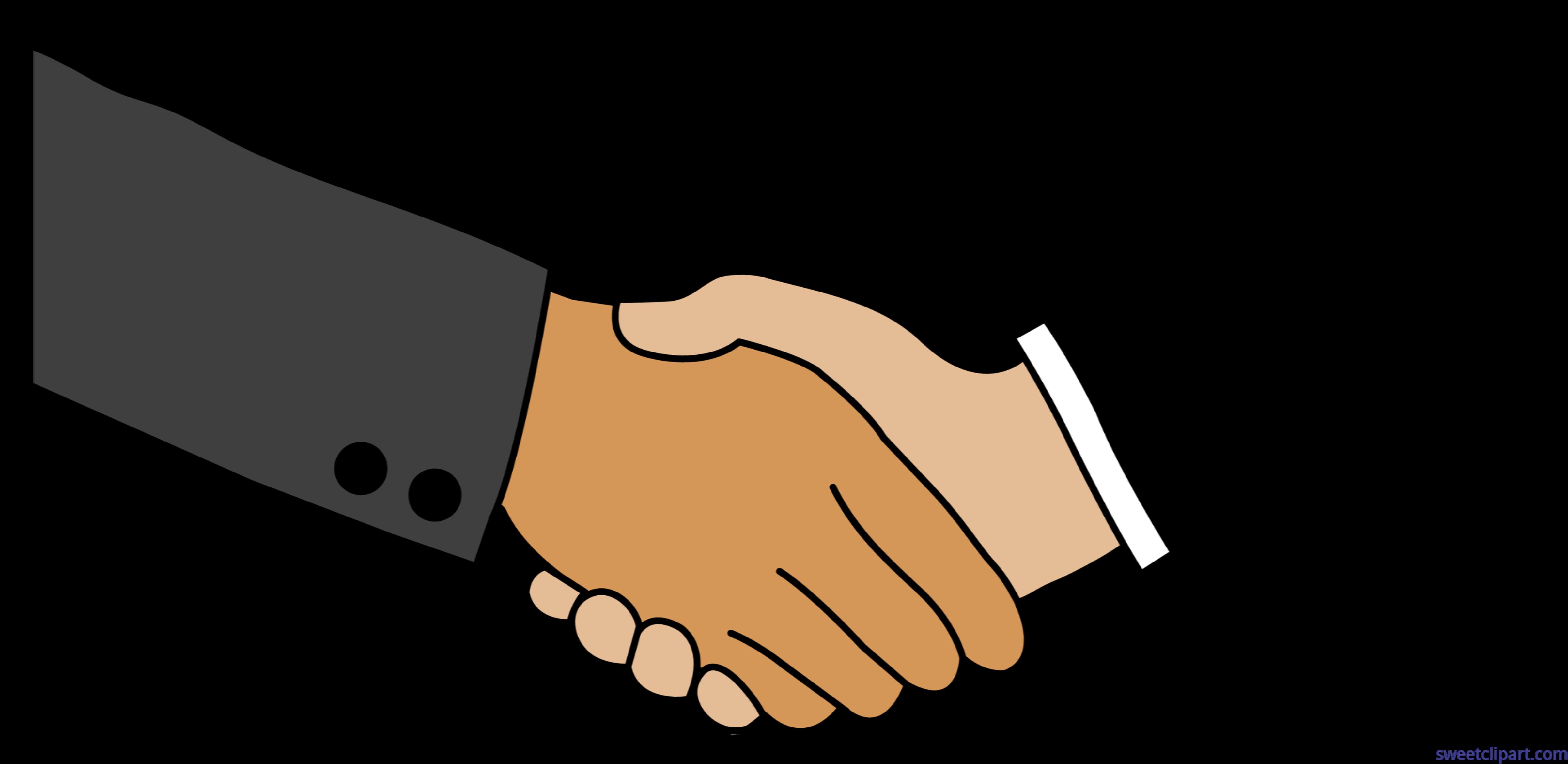 Handshake clipart drawn. Business clip art sweet