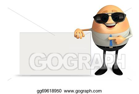 Stock illustration egg as. Business clipart happy