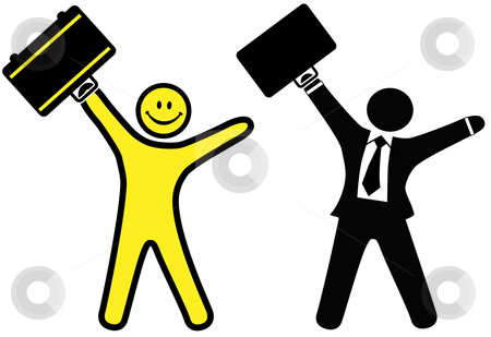 Smiley face man in. Business clipart happy