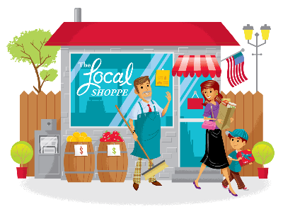 Business clipart local business. How to increase web