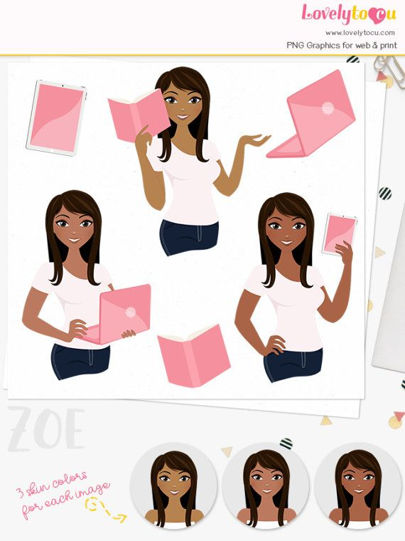Business clipart professional. Woman character girl boss