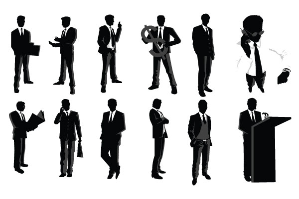 Silhouette . Business clipart professional