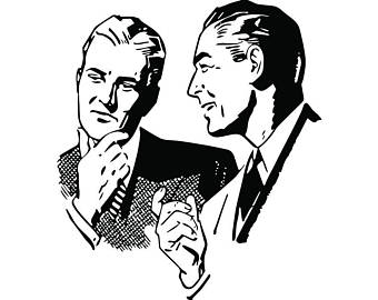 People man male woman. Business clipart retro