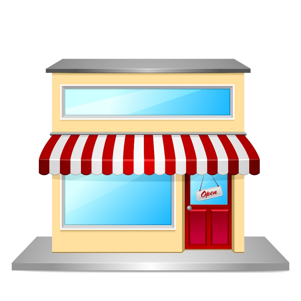 Building pencil and in. Business clipart shop