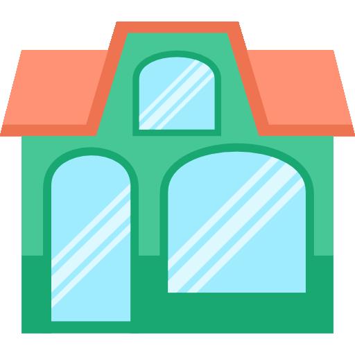 Business clipart shop. Buildings store restaurant icon