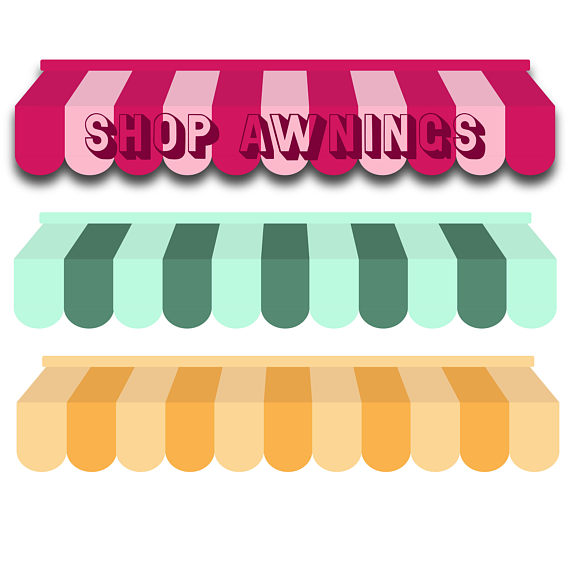 Awning commerce . Business clipart shop