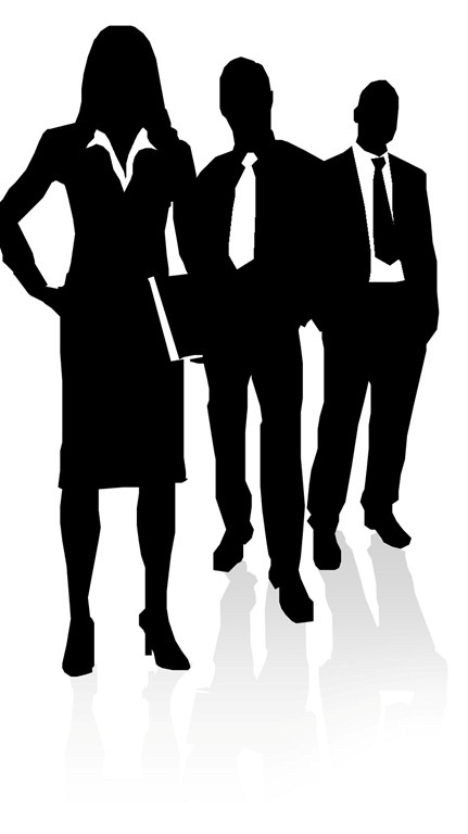 Business clipart silhouette. People clip art https