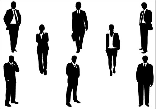 Business clipart silhouette. People