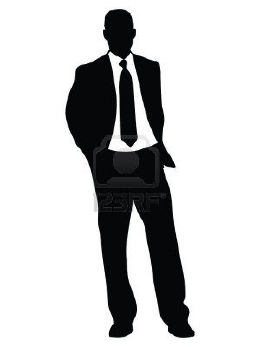 Businessman clipart silhouette. Celebrating man clip art