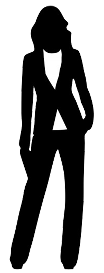 Business clipart silhouette. Female