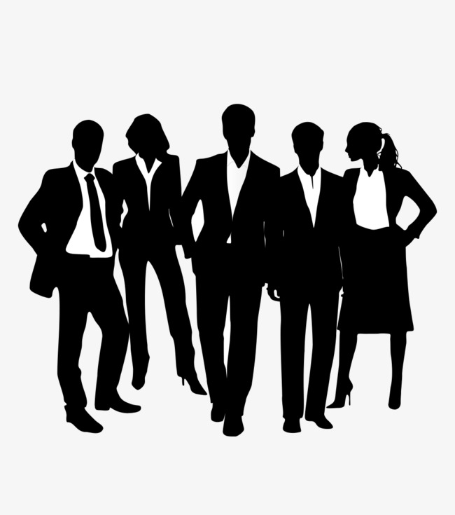 Black people silhouettes man. Business clipart silhouette