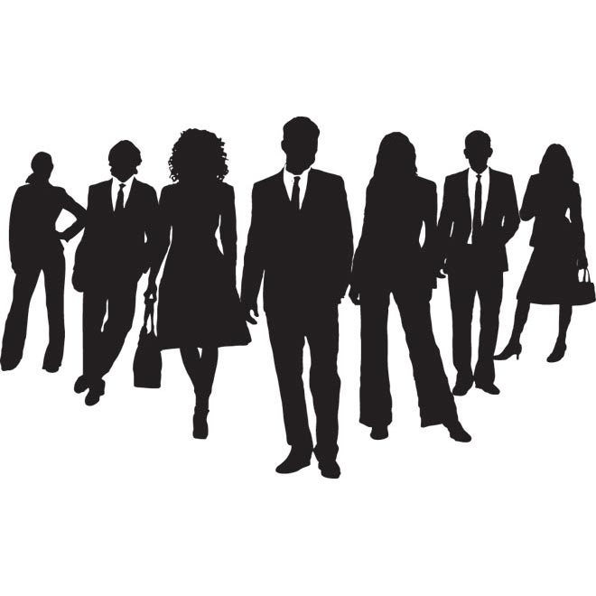 Team at getdrawings com. Business clipart silhouette