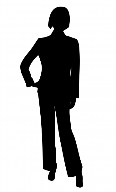 Woman free stock photo. Business clipart silhouette