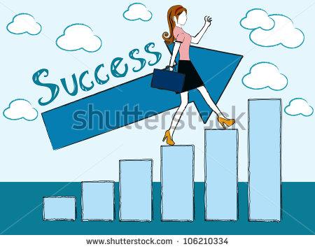 Businesswoman clipart success woman. Females
