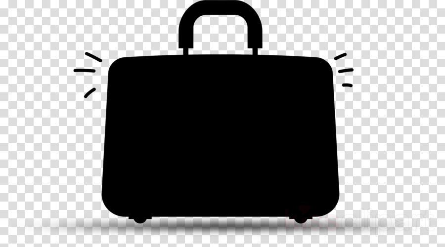 Luggage clipart business. Travel bag silhouette suitcase