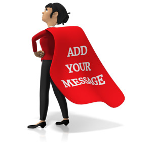Business clipart superhero. Action slide for powerpoint
