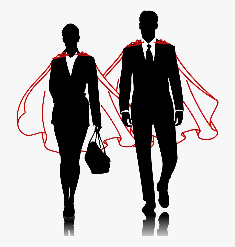 And men businessperson women. Business clipart superhero