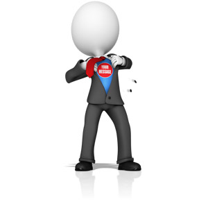 Business clipart superhero. Presenter media powerpoint templates