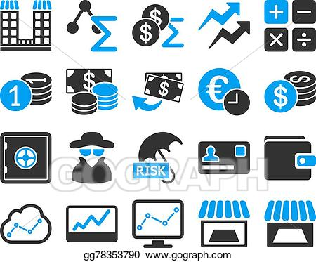 Business clipart trade. Vector stock accounting service