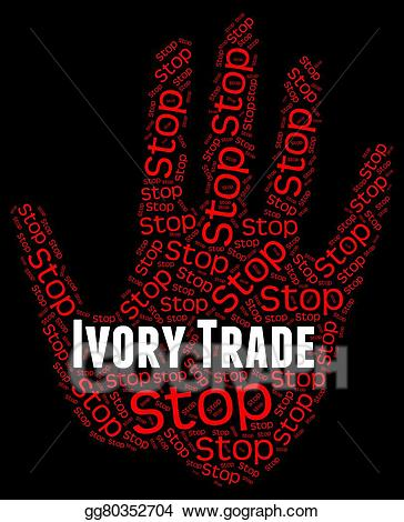 Business clipart trade. Stock illustration stop ivory