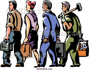 And people walking vector. Business clipart trade