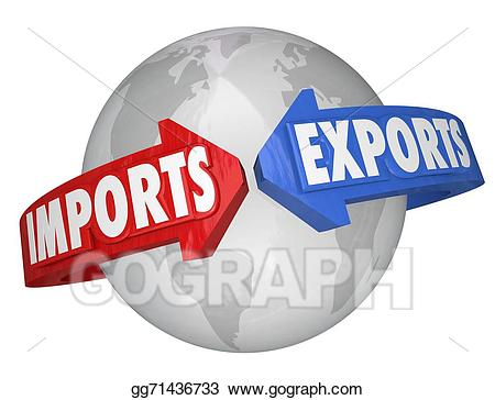 Stock illustration imports exports. Business clipart trade