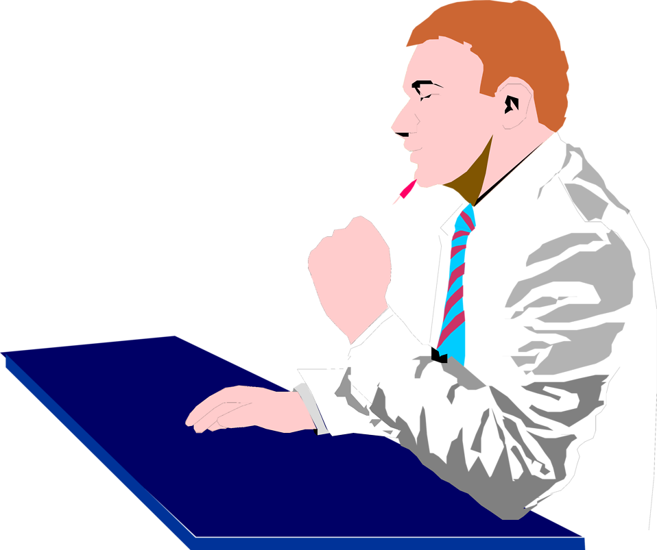 Clipart writing man. Business free stock photo