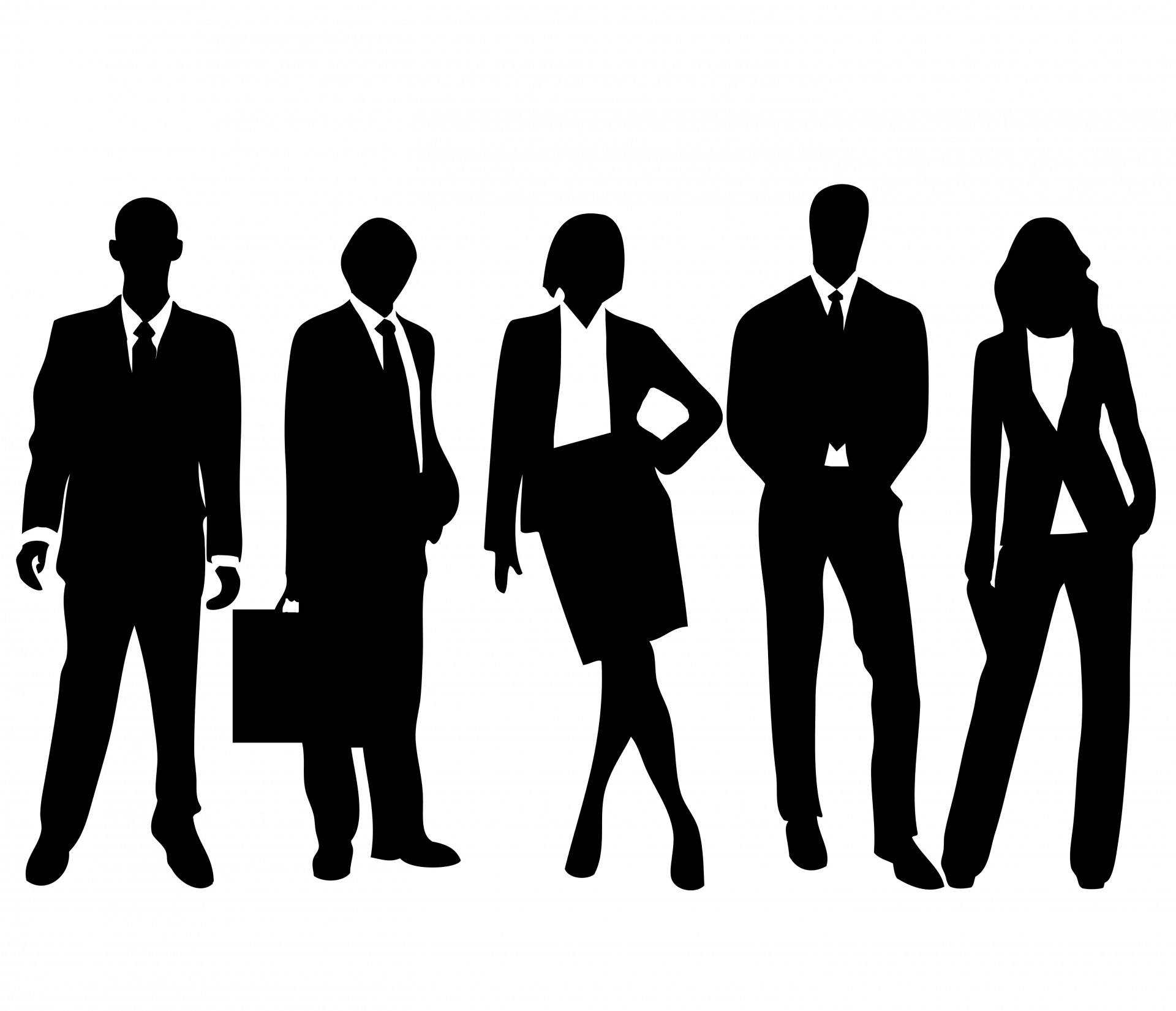 collection of people. Business clipart transparent background