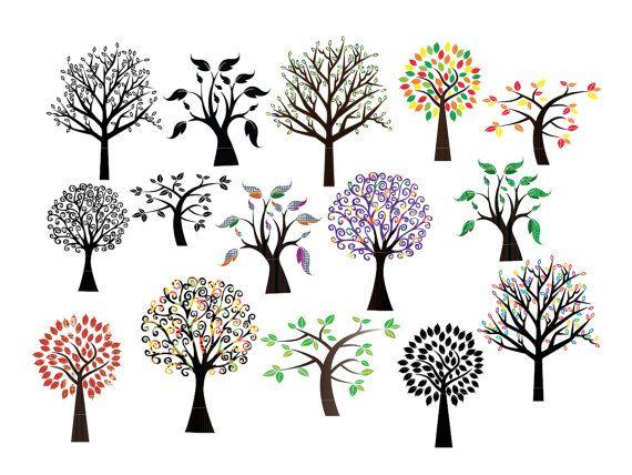 Svg sticker vinyl decal. Business clipart tree