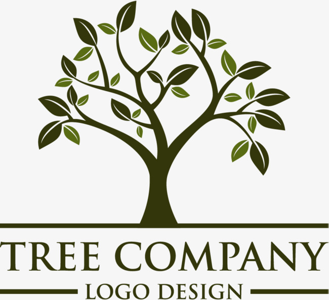 Green card decoration pattern. Business clipart tree