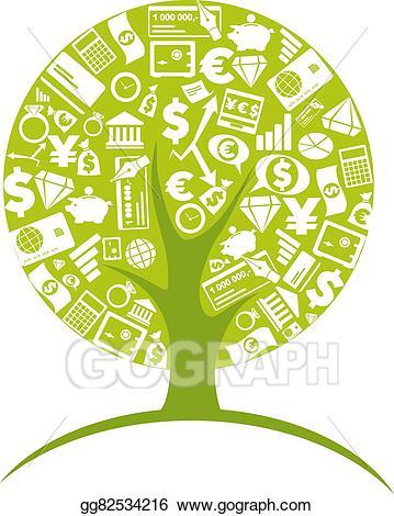 Eps illustration economic growth. Business clipart tree