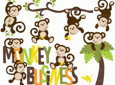 Monkey meylah. Business clipart tree