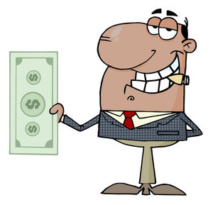 Business image money making. Businessman clipart