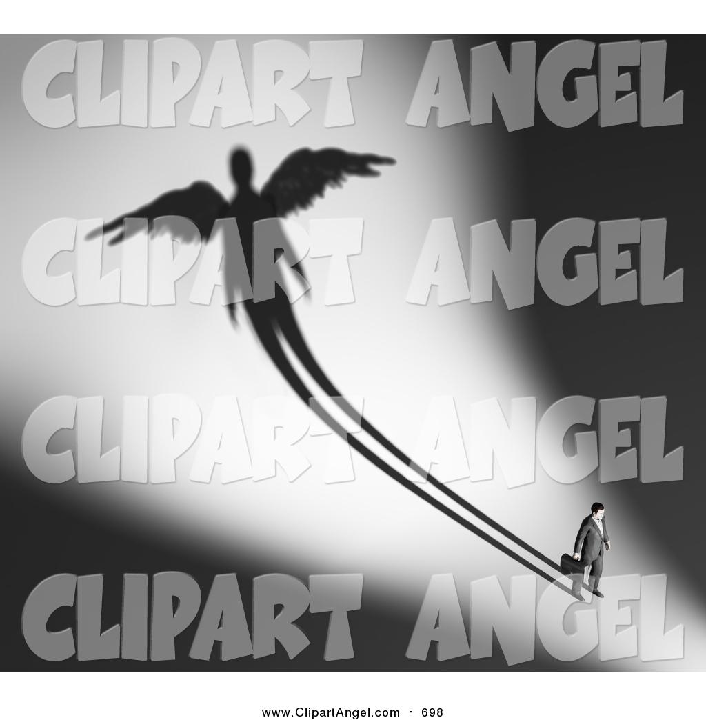 Illustration of a d. Businessman clipart angel