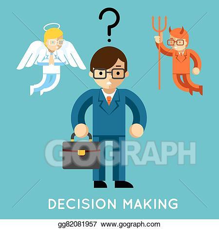 Businessman clipart angel. Clip art vector decision
