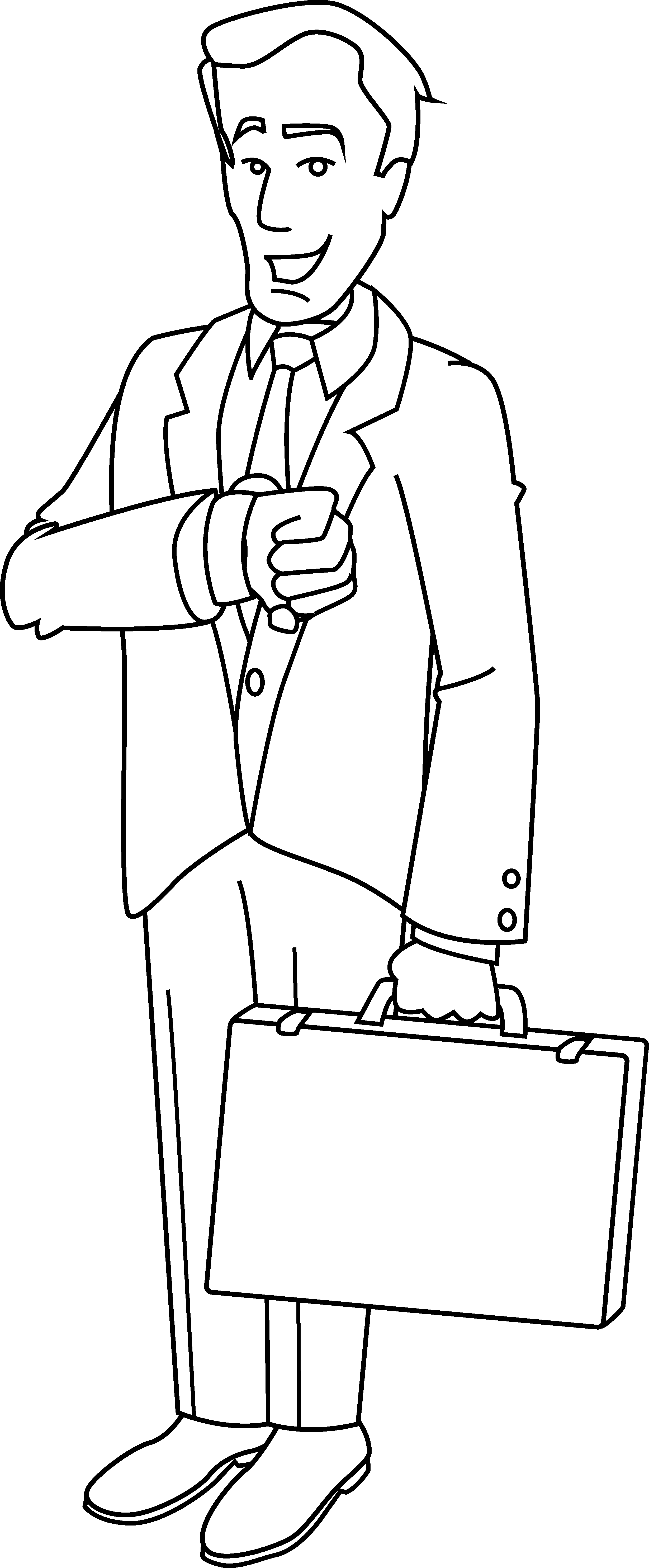 collection of businessman. Manager clipart business person