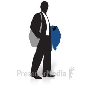 Businessman clipart business guy. Presenter media powerpoint templates