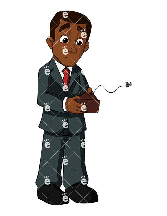 Accounting clipart male accountant. Black businessman with empty