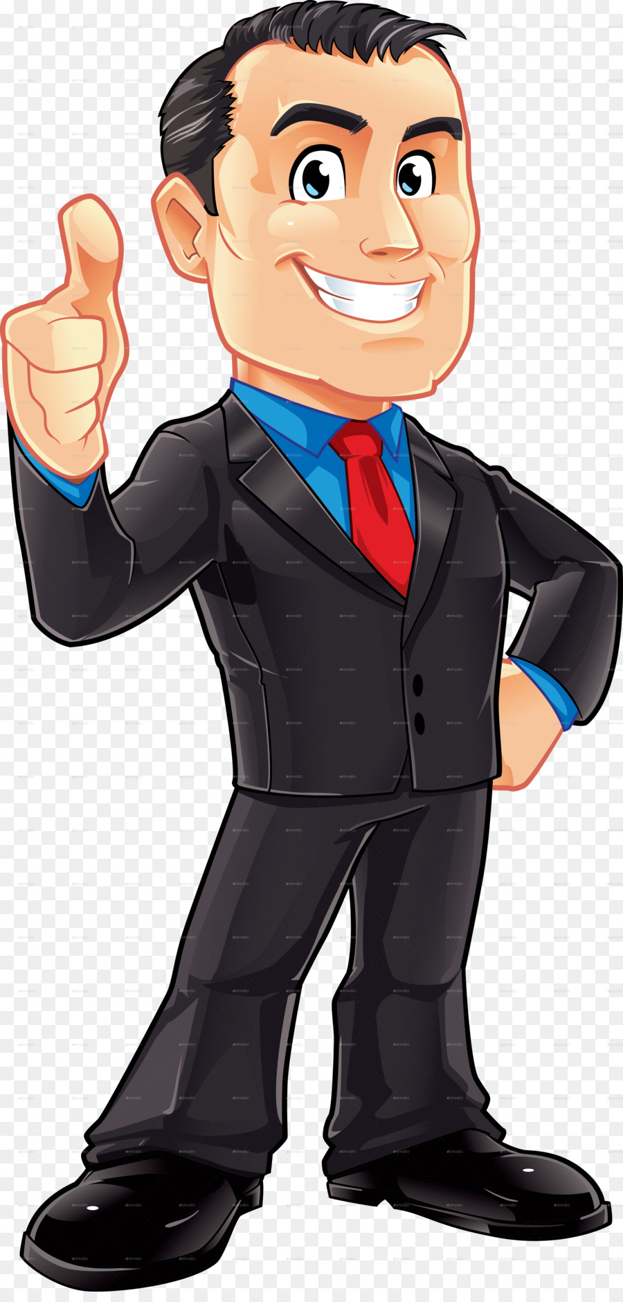 Character clipart business man. Cartoon businessperson male clip