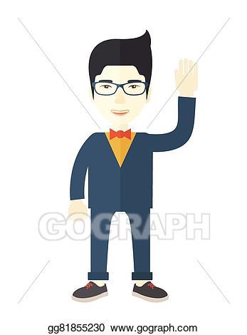 Eps illustration failure standing. Businessman clipart businessman chinese
