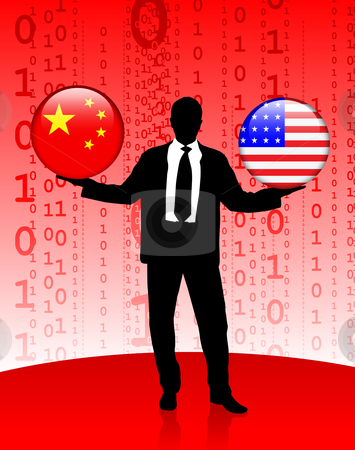 Businessman clipart businessman chinese. Holding china and united