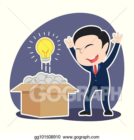 Vector found shining bulb. Businessman clipart businessman chinese
