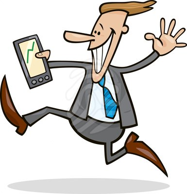 Business clipart happy. Man
