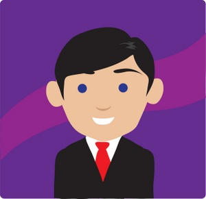 Businessman clipart illustration. Image clip art of