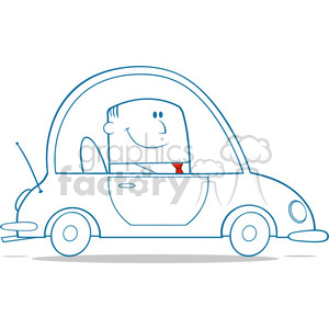Royalty free rf driving. Businessman clipart illustration