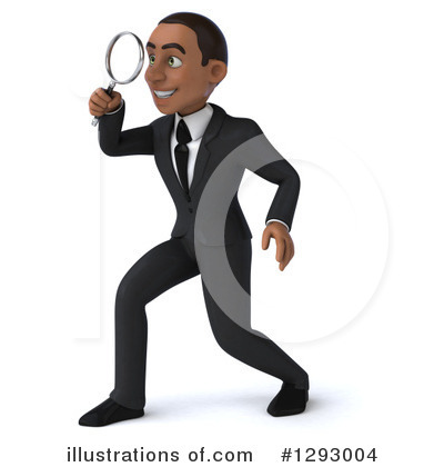 Businessman clipart illustration. Young black by julos