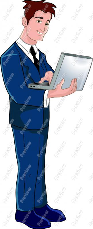 Businessman clipart laptop. On clip art royalty
