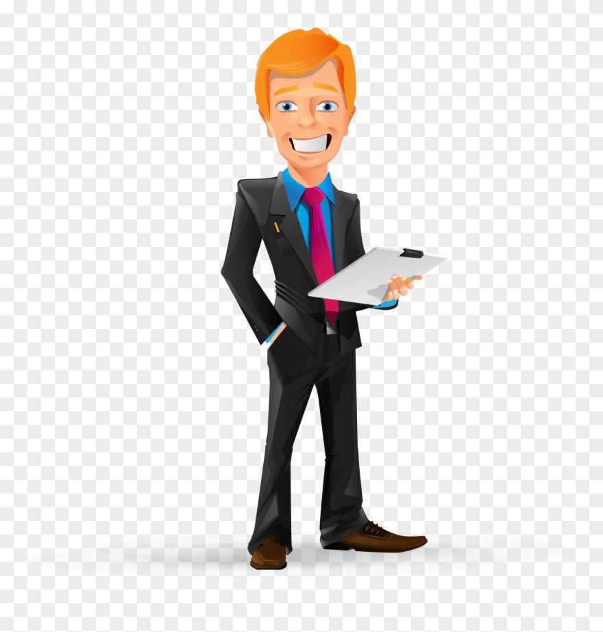 Png man cartoon transparent. Manager clipart business person