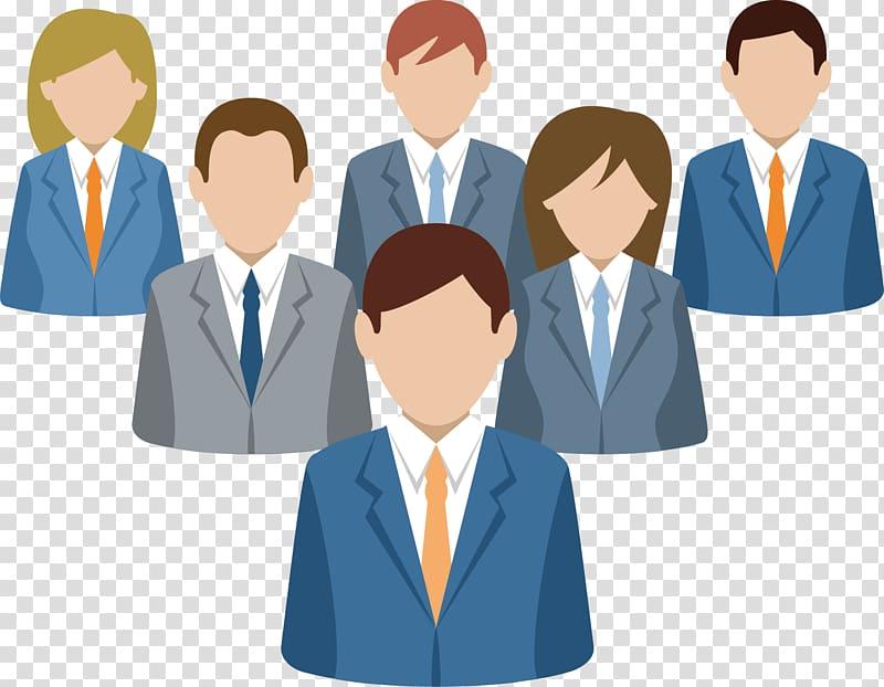 Business service company social. Businessman clipart marketing team